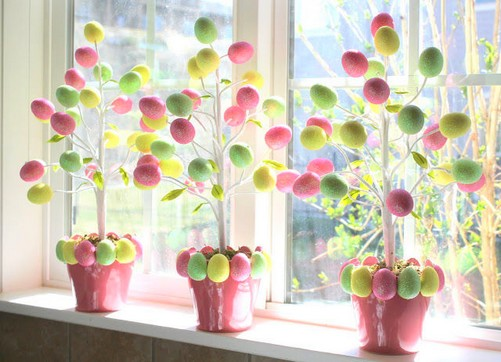 decorar a casa para a Páscoa com ovos