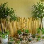 Como decorar jardim com bambu