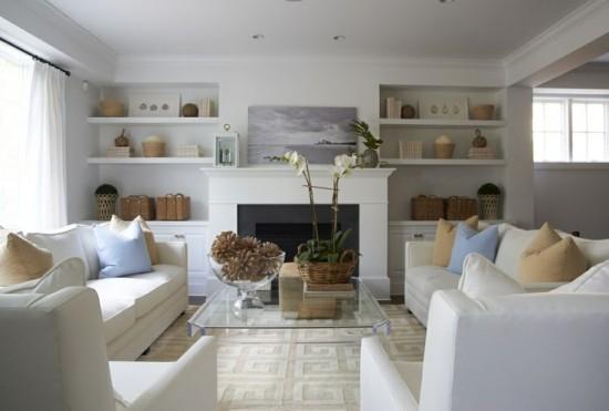 objetos decorativos para salas brancas