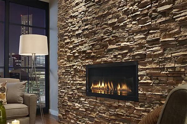 lareiras decoradas com pedras naturais