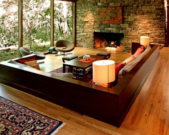 Paredes decoradas com pedras naturais - Paredes decoradas modernas ...