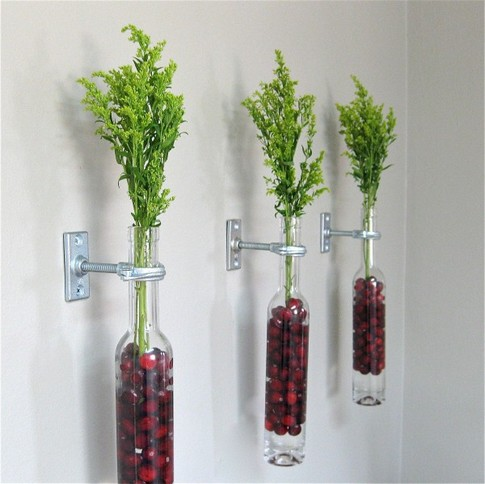 decoração de garrafas de vidro