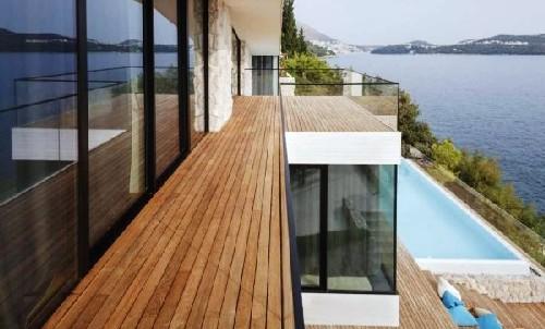 Decoração de pisos de varandas