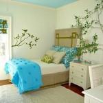 quartos com papel de parede